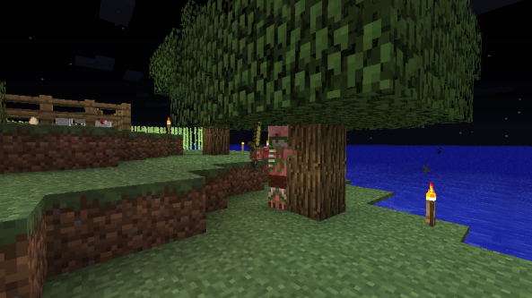 This little twerp was hiding behind my tree...in the Overworld.