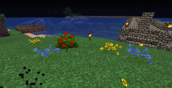 Random flower colors too.