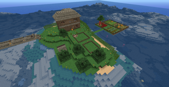 Here is my island now. You can see that the boat dock is gone since there is no use for it now.