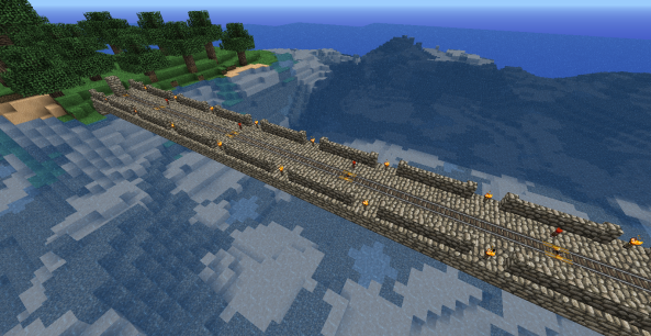 Finally, I completed the rail system. Woo hoo!